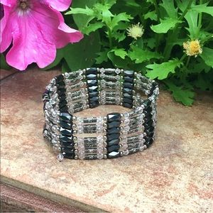Magnetic hematite jewelry bracelet necklace